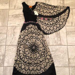 Pure Silk Black Maxi Dress